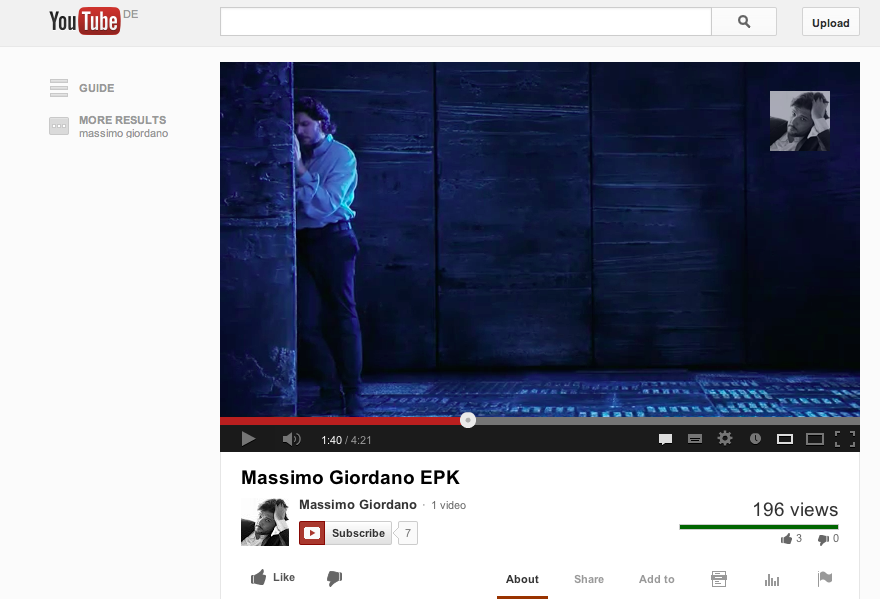 Subscribe To The Massimo Giordano Youtube Channel
